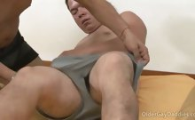 Old gay ass spread wide open for gay mature meat