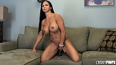 Jewels Jade gets out her tits and orders you to shoot cum all over them