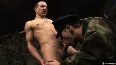 Cute twink gets his ass fucked by a military officer as punishment