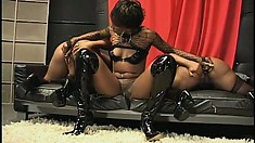 Voluptuous black hotties can't wait to get into a crazy threesome
