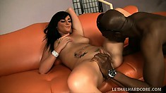 Adventurous hooker Lexxi Ward dances sweetly on a big black dong