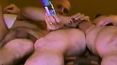 Horny gay friends share hot kisses, exchange blowjobs and taste each other's asses