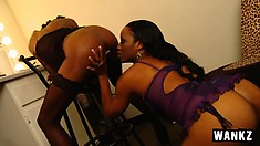 Imani and Dariel are a couple of cunt hungry lesbians with toys