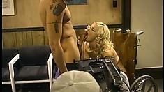 Lovable hot stuff Hannah Harper gets cunt kissed and sucks big cock