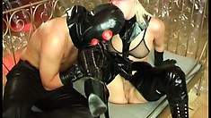 Fetish babe Samantha Wimmer gets her pussy penetrated by a latex stud