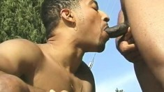 Naughty Dennis takes Kamrun's monster of a cock up his tight butt